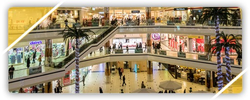 shopping centers and malls