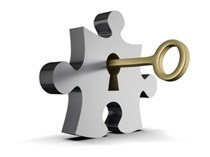 a key into the puzzle