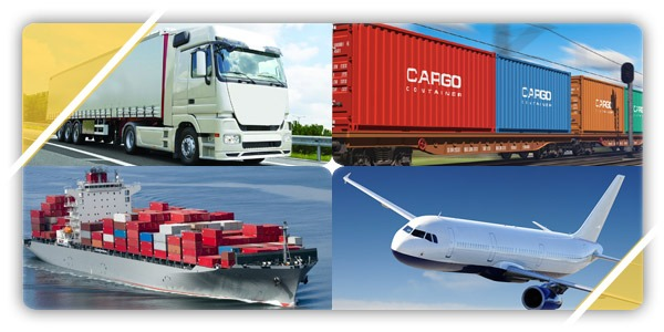 railway shipping and air transportation