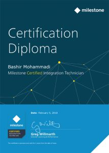 Bashir-Mohammadi---Milestone-Certified-Integration-Technician-(MCIT)-Assessment---Completion-Certificate